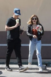 Lucy Hale and Riley Smith Stills Out in Studio City 2018/05/18 13