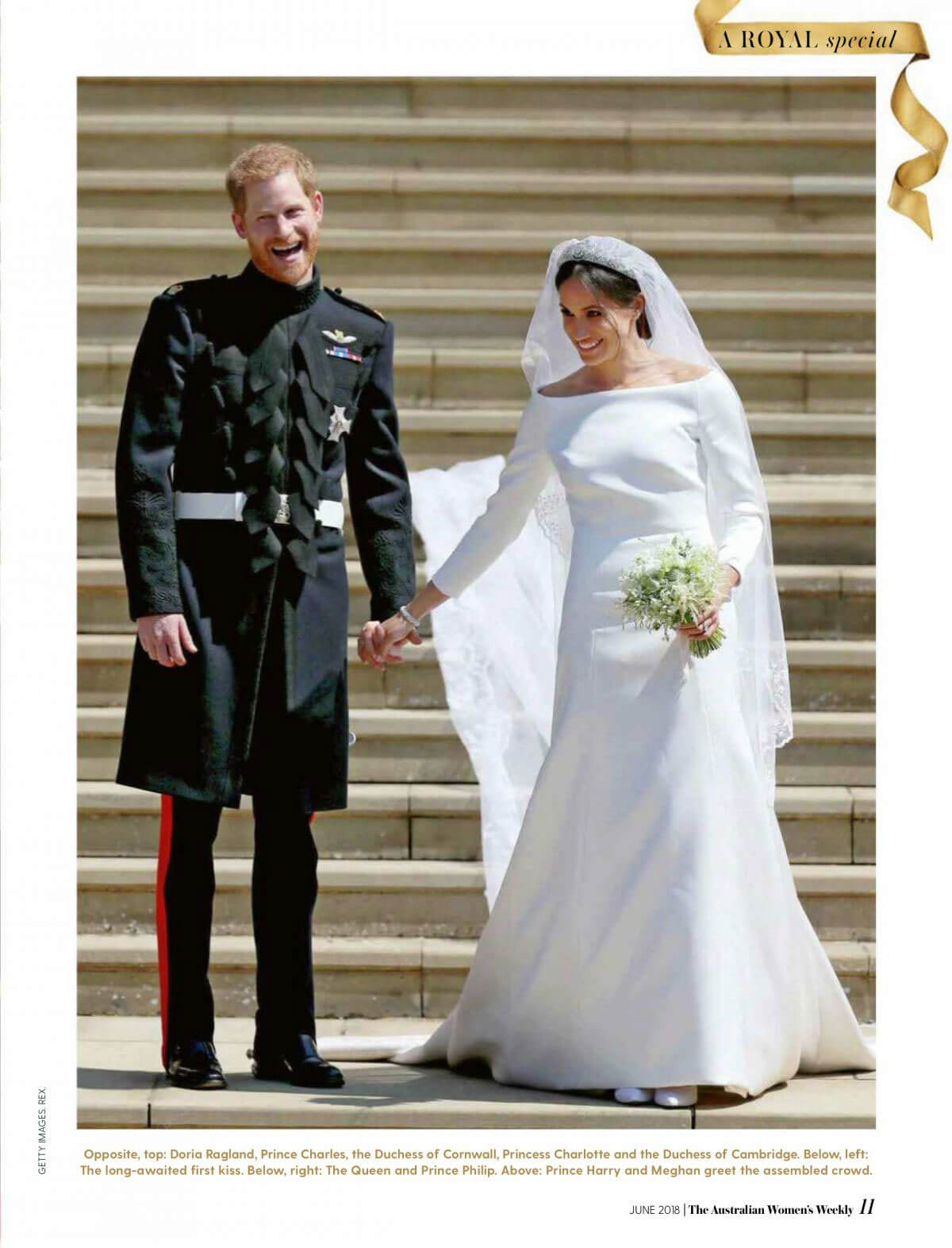 Meghan Markle and Prince Harry in Woman's Weekly, Australia June 2018 Issue 16