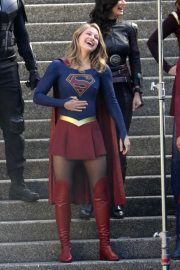 Melissa Benoist and Erica Durance Stills on the Set of Supergirl in Vancouver 2018/05/02 1