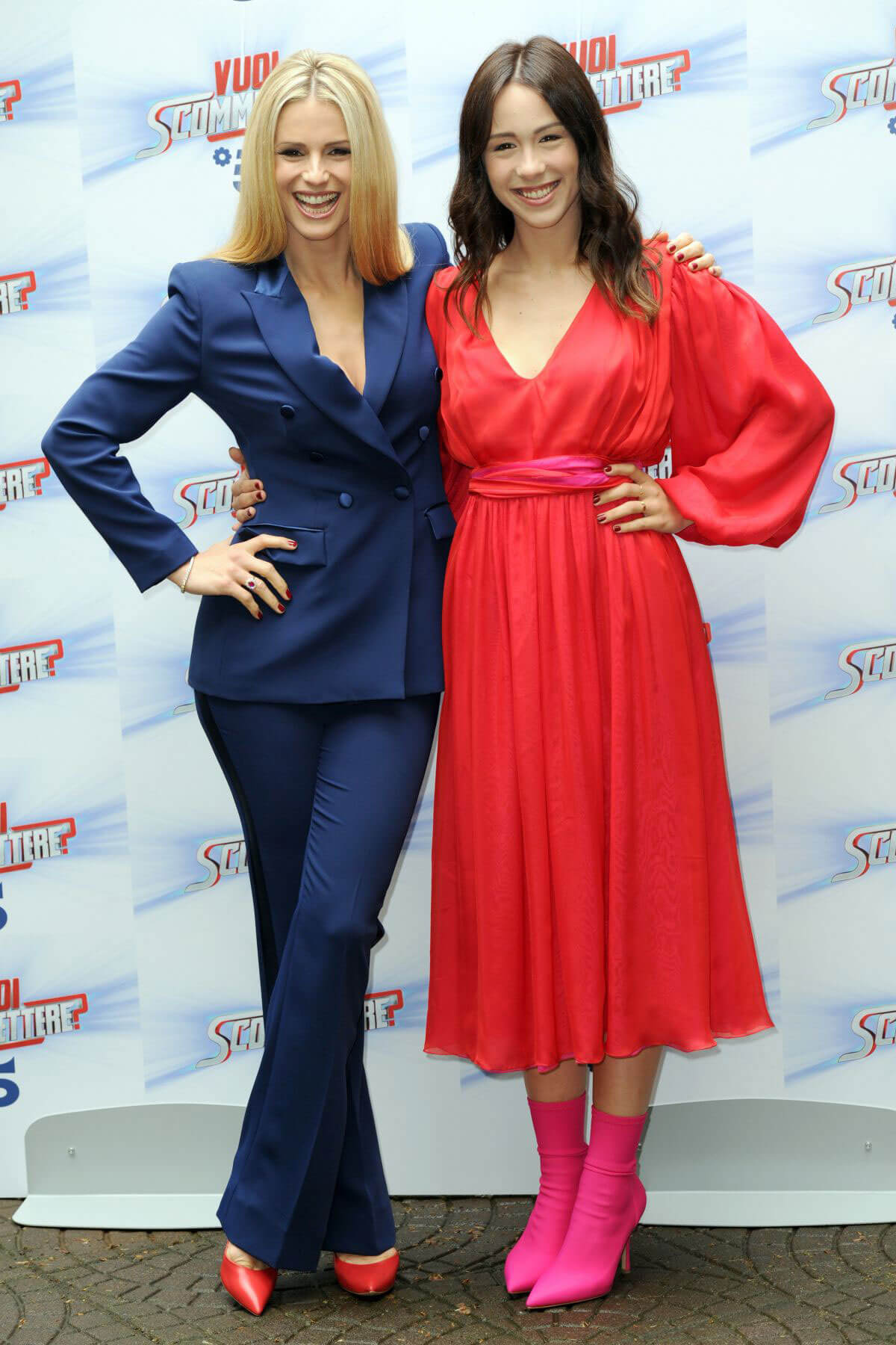 Michelle Hunziker and Aurora Ramazzotti Stills at Do You Want to Bet Show Photocall in Milan 2018/05/03 17