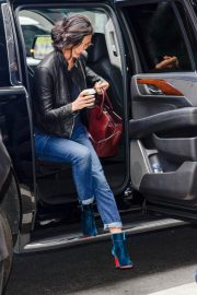 Morena Baccarin Stills in Jeans Out in New York 2018/05/16 2