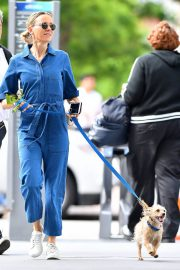 Naomi Watts Stills in Blue Jeans Jumper Out with Her Dog in New York 2018/05/22 5