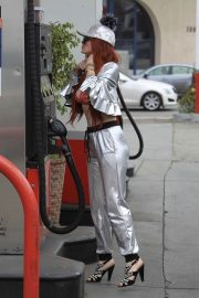 Phoebe Price Stills at a Gas Station in Beverly Hills 2018/05/18 2