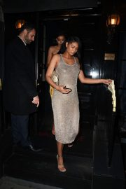 Pregnant Chanel Iman Night Out in London 2018/05/29 2