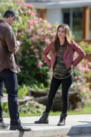 Rachel Bilson and Eddie Cibrian Stills on the Set of Take Two in New Westminster 2018/05/17 2