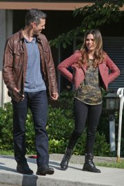 Rachel Bilson and Eddie Cibrian Stills on the Set of Take Two in New Westminster 2018/05/17 15
