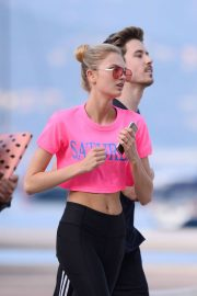Romee Strijd Stills Out Jogging in Cannes 2018/05/08 1