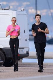 Romee Strijd Stills Out Jogging in Cannes 2018/05/08 2