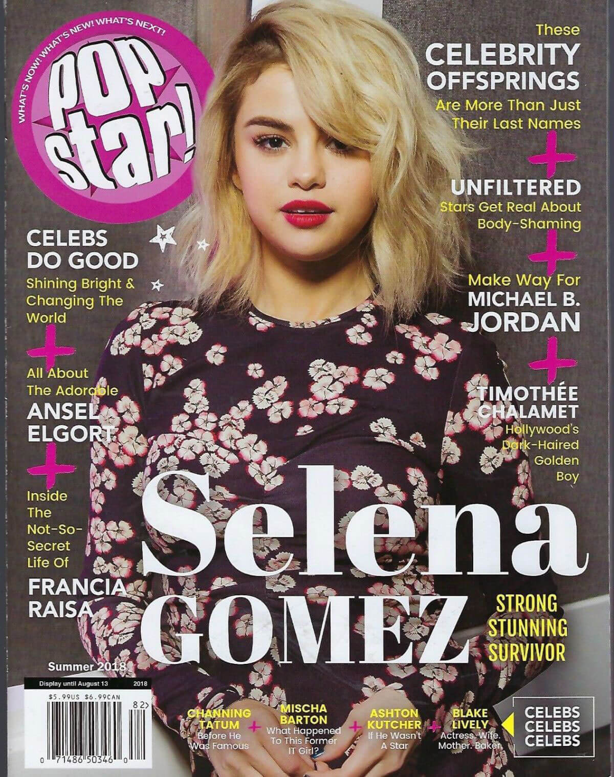 Selena Gomez Stills on the Cover of Pop Star! Magazine, Summer 2018 Issue 1