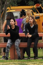Selma Blair and Roselyn Sanchez Stills Working Out at a Park in Studio City 2018/05/23 2