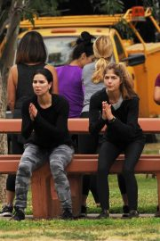 Selma Blair and Roselyn Sanchez Stills Working Out at a Park in Studio City 2018/05/23 3