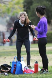 Selma Blair and Roselyn Sanchez Stills Working Out at a Park in Studio City 2018/05/23 14