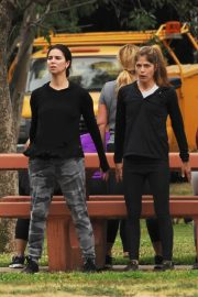 Selma Blair and Roselyn Sanchez Stills Working Out at a Park in Studio City 2018/05/23 34
