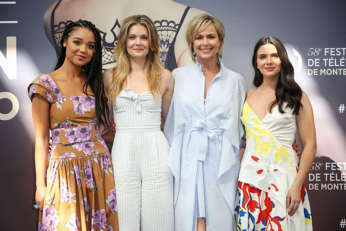 Aisha Dee  Meghann Fahy melora hardin and Katie Stevens at The Bold Type Photocall at 58th Monte Carlo TV Festival 2018/06/16 1