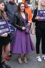 Alyssa Milano at Era Coalition Call for Ratification of the Equal Rights Amendment in New York 2018/06/04 2
