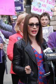 Alyssa Milano at Era Coalition Call for Ratification of the Equal Rights Amendment in New York 2018/06/04 3