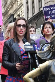 Alyssa Milano at Era Coalition Call for Ratification of the Equal Rights Amendment in New York 2018/06/04 4