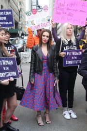 Alyssa Milano at Era Coalition Call for Ratification of the Equal Rights Amendment in New York 2018/06/04 5