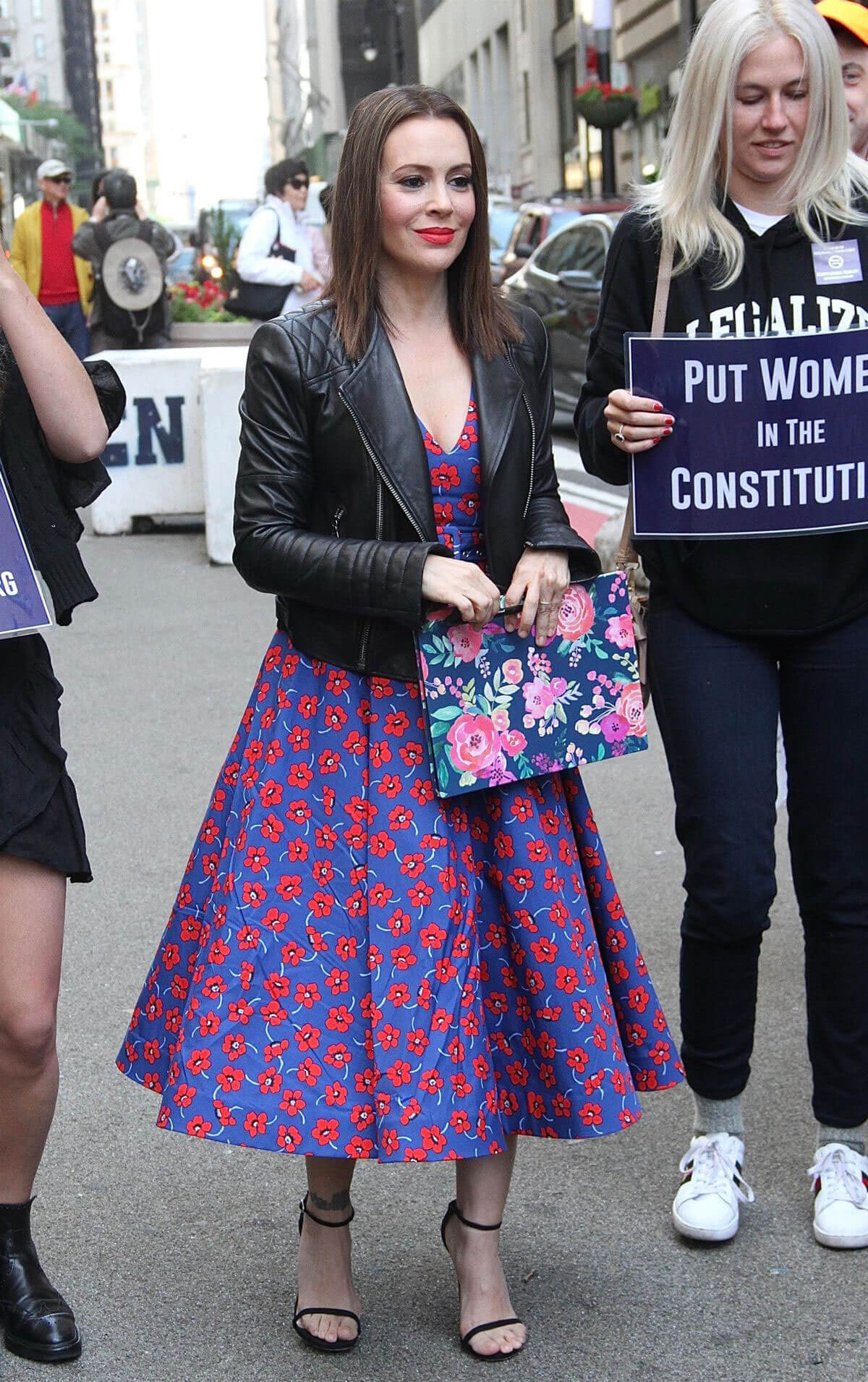 Alyssa Milano at Era Coalition Call for Ratification of the Equal Rights Amendment in New York 2018/06/04 9