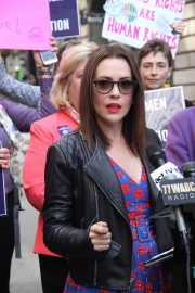 Alyssa Milano at Era Coalition Call for Ratification of the Equal Rights Amendment in New York 2018/06/04 10