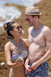 Anna Sharypova in Bikini and Andre Schurrle at a Beach in Tulum 2018/05/28 1