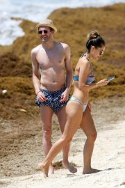 Anna Sharypova in Bikini and Andre Schurrle at a Beach in Tulum 2018/05/28 2