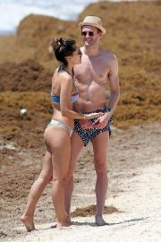 Anna Sharypova in Bikini and Andre Schurrle at a Beach in Tulum 2018/05/28 3