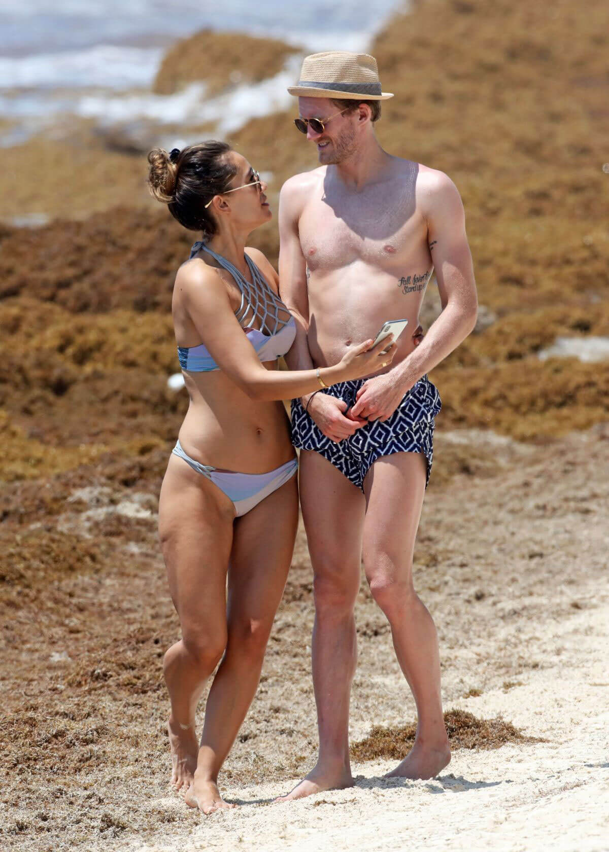 Anna Sharypova in Bikini and Andre Schurrle at a Beach in Tulum 2018/05/28 7