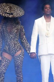 Beyonce and Jay z performs at on the run ii tour inlondon 2018/06/15 2