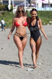 Chantelle Connelly and Lois Molly on the Beach in Marbella 2018/05/10 15