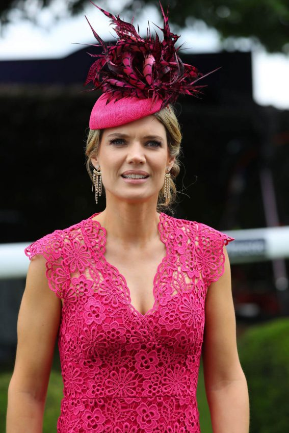 Charlotte Hawkins at Investec Derby Festival Ladies Day at Epsom Racecourse 2018/06/01 2
