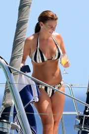 Coleen Rooney in Bikini at a Boat in Barbados 2018/05/28 10