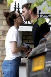 Daisy Ridley and Tom Bateman Stills Out Kissing in London 2018/06/08 2
