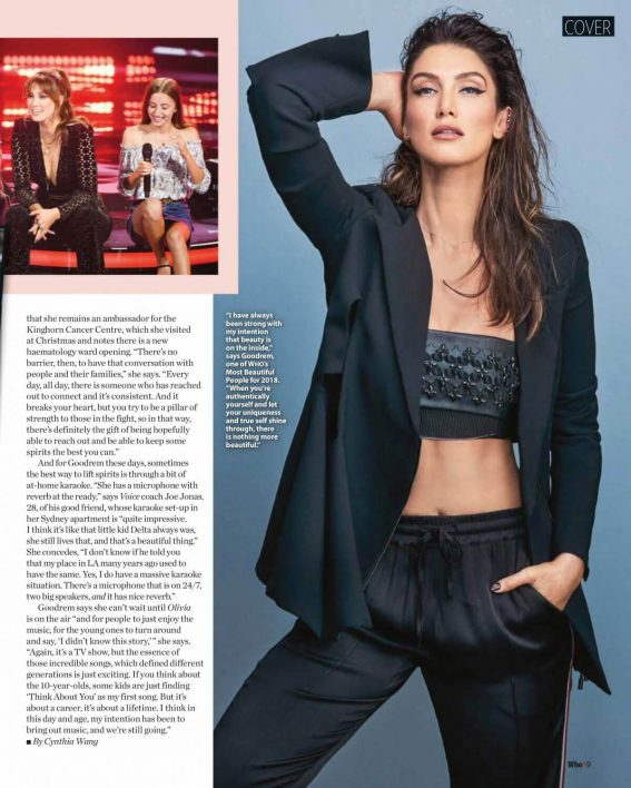 Delta Goodrem in Who Magazine, May 2018 1