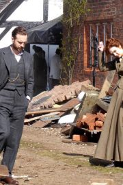 Eleanor Tomlinson on the Set of War of the Worlds in Cheshire 2018/06/09 7