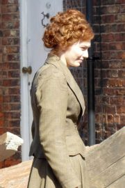 Eleanor Tomlinson on the Set of War of the Worlds in Cheshire 2018/06/09 9