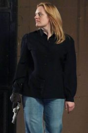 Elisabeth Moss on The Set of The Old Man and The Gun in New York 2018/06/06 7