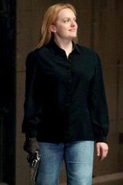Elisabeth Moss on The Set of The Old Man and The Gun in New York 2018/06/06 13