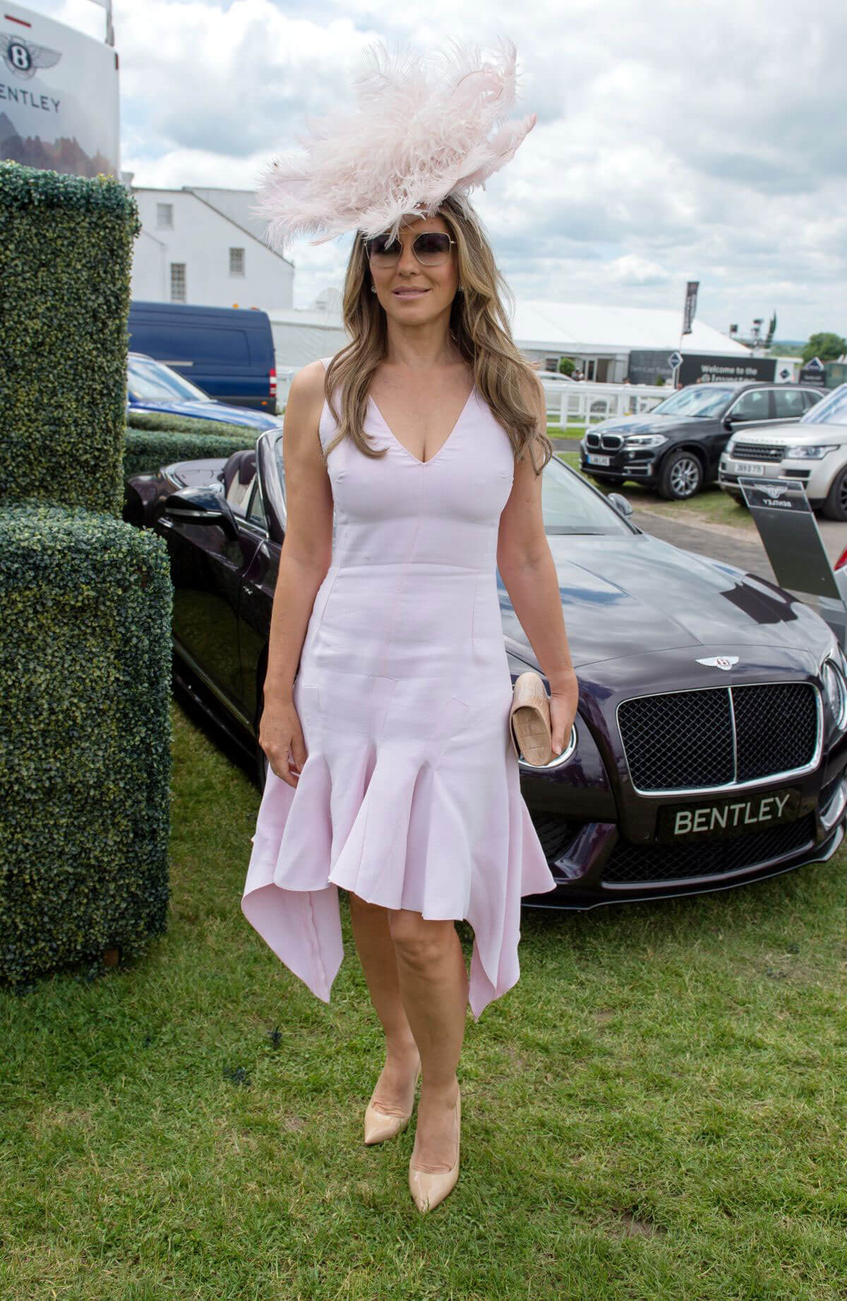 Elizabeth Hurley at Investec Derby Festival Ladies Day at Epsom Racecourse 2018/06/01 11