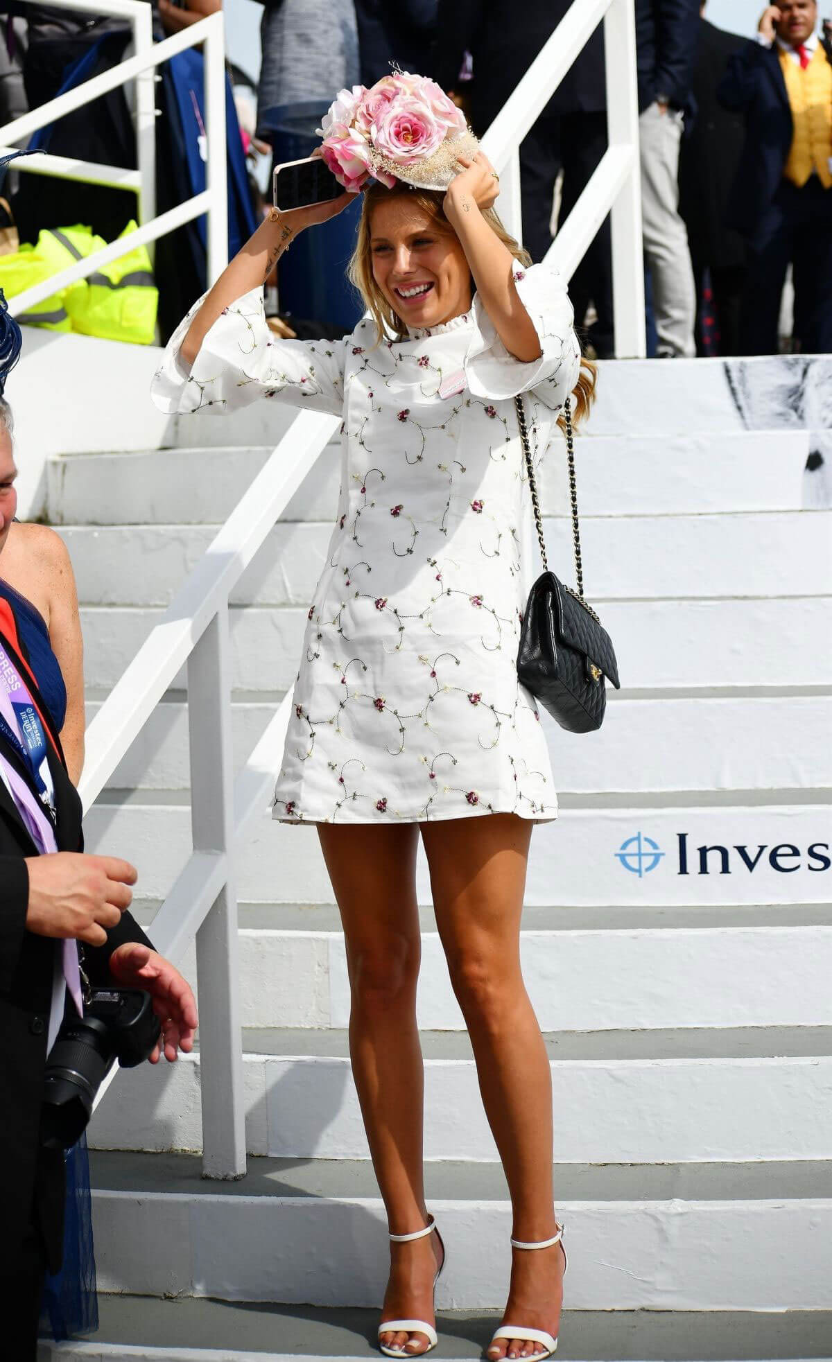 Frankie Gaff at Investec Derby Festival Ladies Day at Epsom Racecourse 2018/06/01 6