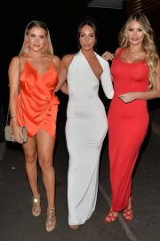 Georgia Kousoulou Amber Dowding and Chole Sims Arrives at Amber's Birthday Party in London 2018/06/23 2
