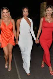 Georgia Kousoulou Amber Dowding and Chole Sims Arrives at Amber's Birthday Party in London 2018/06/23 12