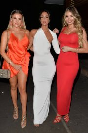 Georgia Kousoulou Amber Dowding and Chole Sims Arrives at Amber's Birthday Party in London 2018/06/23 16