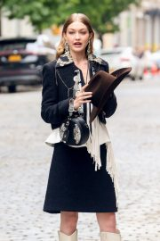 Gigi Hadid on The Set of a Photoshoot in New York 2018/05/31 8