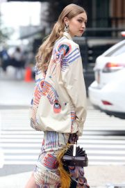 Gigi Hadid on The Set of a Photoshoot in New York 2018/05/31 22
