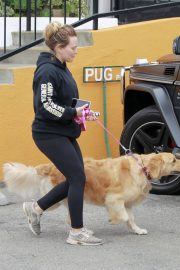 Hilary Duff Out with Her Dog in Studio City 2018/05/31 9