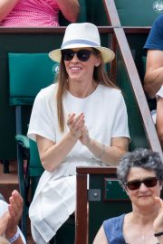 Hilary Swank at 2018 French Open Tennis Tournament at Roland Garros 2018/06/09 2