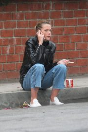 Jaime King Takes a Cigarette Break at a Studio in Los Angeles 2018/05/31 10