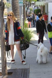 Kathryn Newton Out with Her Dog on Rodeo Drive in Beverly Hills 2018/06/20 11