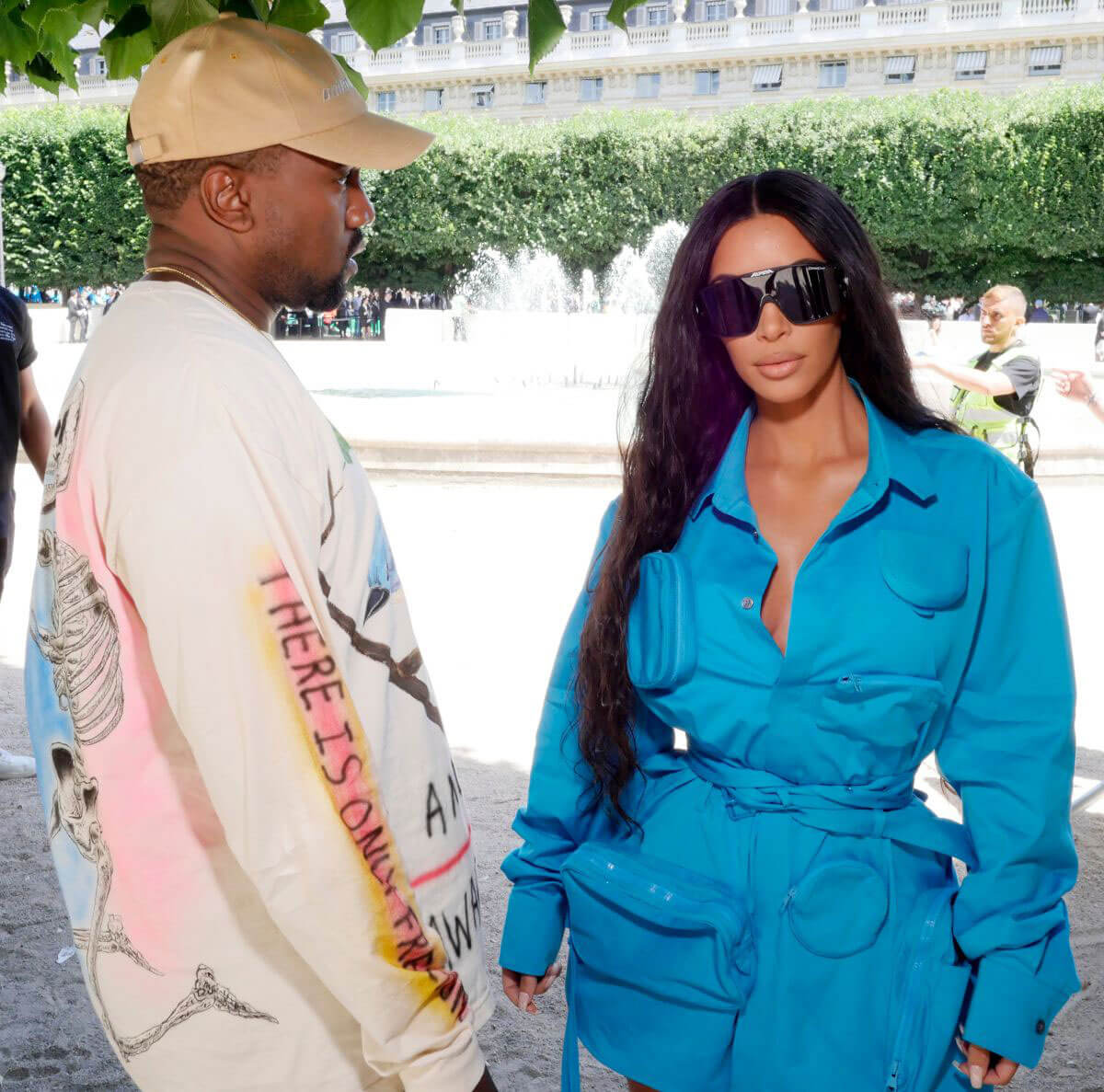 Kim Kardashian and Kanye West at louis vuitton show at paris,fashion week 2018/06/21 1